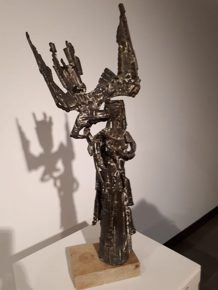 Anunciación 1960. Venencio Blanco.Bronce fundido a la cera perdida.65x24x23cm. Colección Fundación Venancio Blanco