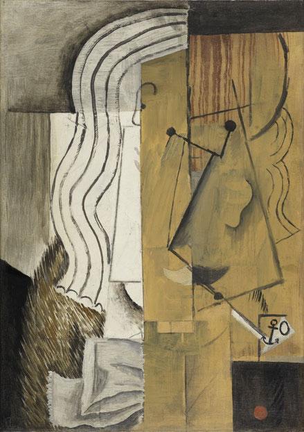 Picasso,cabeza de hombre 1913. Museo Thyssen. Retrato cubista que presagian su etapa madura con un lenguaje visual que se vale del ingenio y síntesis propio.