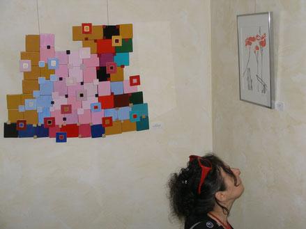 Ellen Roß: Auf dem Weg nach Bagdad, 2011, Vinyl und Lack auf Holz, ca.75 x 61 cm