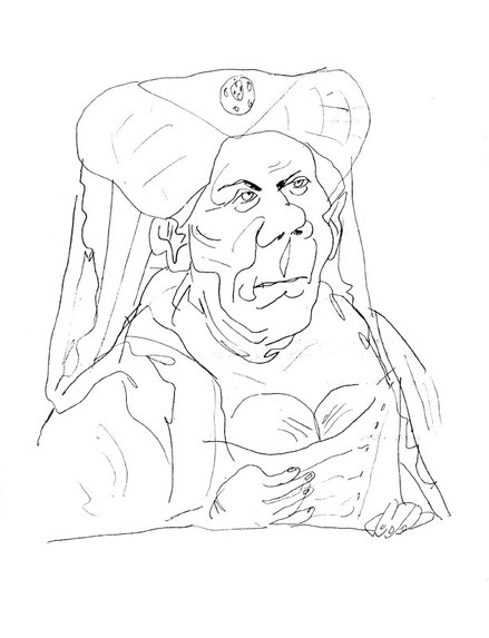 Zeichnung von Mock aus Gurlitts Kunstschatz