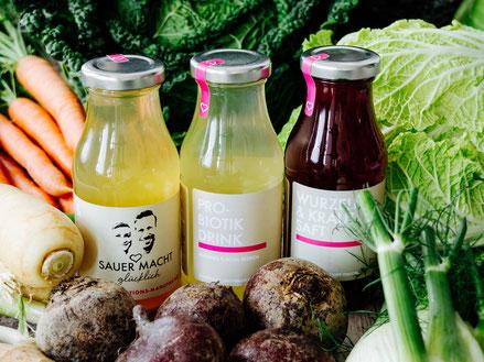 Würzsaucen & Gemüsesäfte SAUER MACHT GLÜCKLICH | fermentierte Lebensmittel - von Hand hergestellt und nach Hause geliefert. Vegan. Roh. Glutenfrei. Natürlich. Gesund. Lecker.