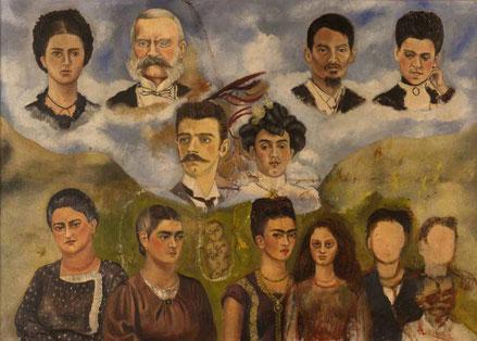 """Mi familia"", (obra inconclusa) Frida Kahlo"