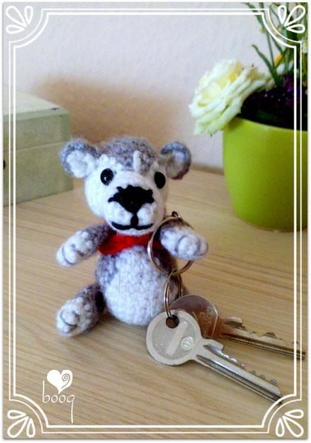 kulcstartó mini kutya amigurumi boog