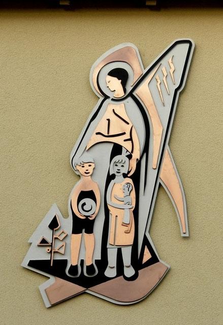 """Wandrelief (Metall) """"Engel"""", Kath. Kindergarten St. Josef, Leverkusen 2015"""