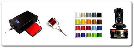 Bindewerkzeug - Bindematerial - UV Lack und Geräte