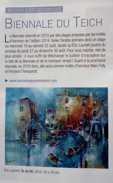L'art de l'aquarelle - N° 25 Juin 2015