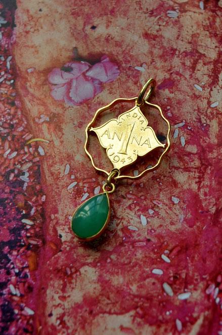 Münzsägewerk Katrin Thull | Indien - Anna mit Chrysopras
