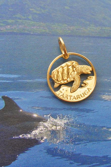 Münzsägewerk Katrin Thull   Kapverdische Inseln - Meeresschildkröte