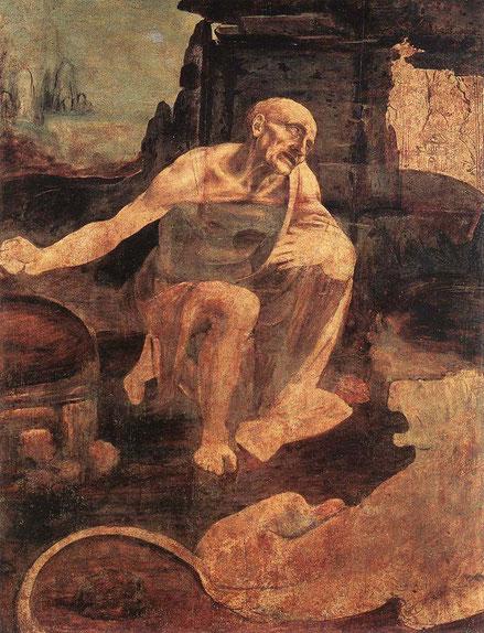 Святой Иероним - Леонардо да Винчи. Самые известные картины Леонардо да Винчи