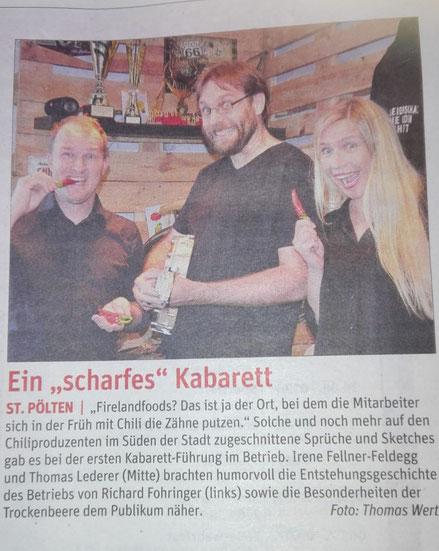 Artikel NÖN St. Pöltner Zeitung, Juni 2018