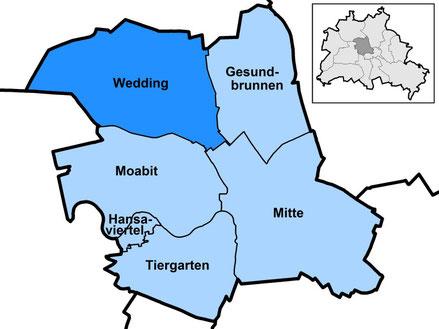 Der neue Bezirk Mitte mit seinen Ortsteilen