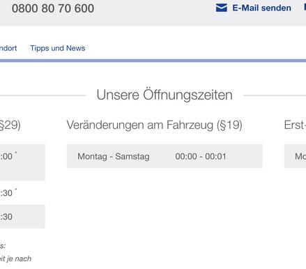 Aktuelle (Okt 19) Angaben der TÜV-Nord-Seite zur Terminanfrage...
