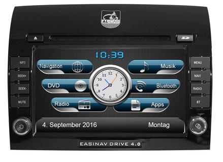 AL-CAR Navigationsgerät / Naviceiver EASINAV Driver 4.0 für Fahrzeuge der Marken FIAT, Peugeot und CItroen