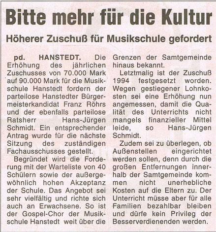 Nordheide Wochenblatt 18.04.2001