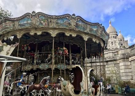 Karussell, Sacre Coeur, Paris, Frankreich, Stadt,