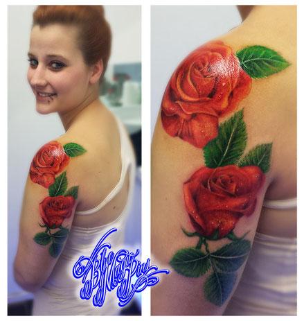 Blue Magic Pins roses tattoo Genk Belgium