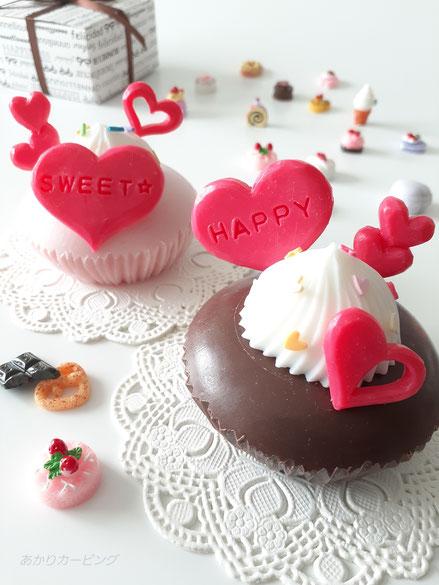 ソープカービング バレンタイン マドレーヌ ケーキ カップケーキ マフィン 簡単