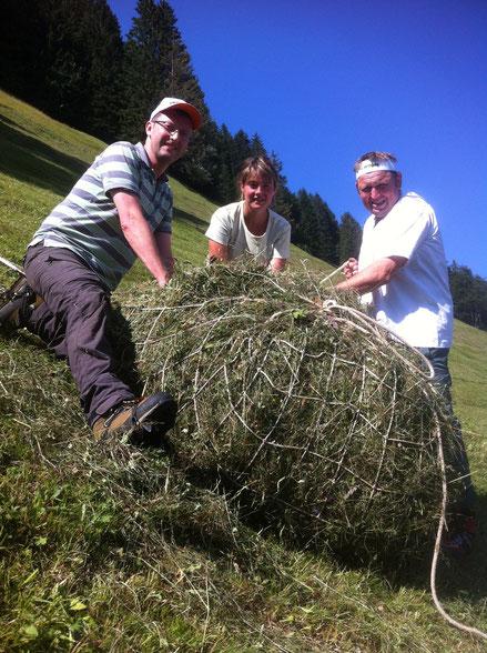 Bergheuen am Stanserhorn: mit Beat Gut und Monika