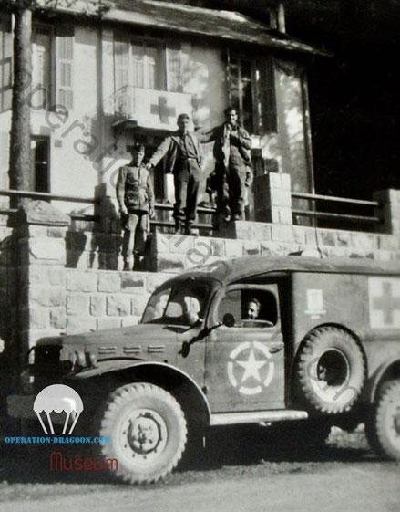 509 medical detachment in Turini. Peira Cava. October 1944. near Italian Border