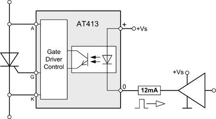 Das Thyristor AT413 Trigger Modul für Netzspannung 100-690Vrms wurde für Anwendungen und Applikationen zum Triggern eines einzelnen Thyristors mit µController, Logikschaltkreisen, CPLD oder FPGAs
