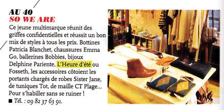 L'heure d'été est dans le magazine Elle de février 2013