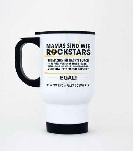 """Thermobecher aus Edelstahl """"Mamas sind wie Rockstars"""""""