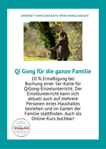 Familienkarte Mönchengladbach Entspannung und Qi Gong für die ganze Familie