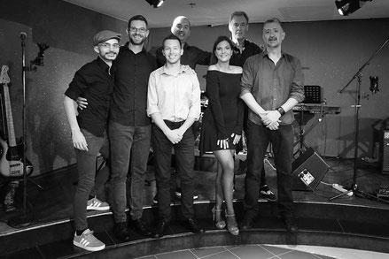 """Gastauftritt auf der AIDAcara mit der Band """"Take Six"""" aus Serbien im Januar 2019."""