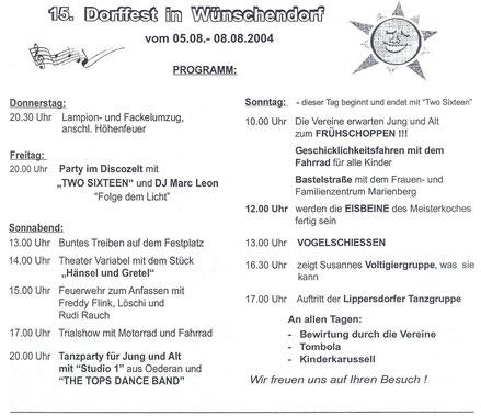 Bild: Wünschendorf Erzgebirge Dorffest 2004