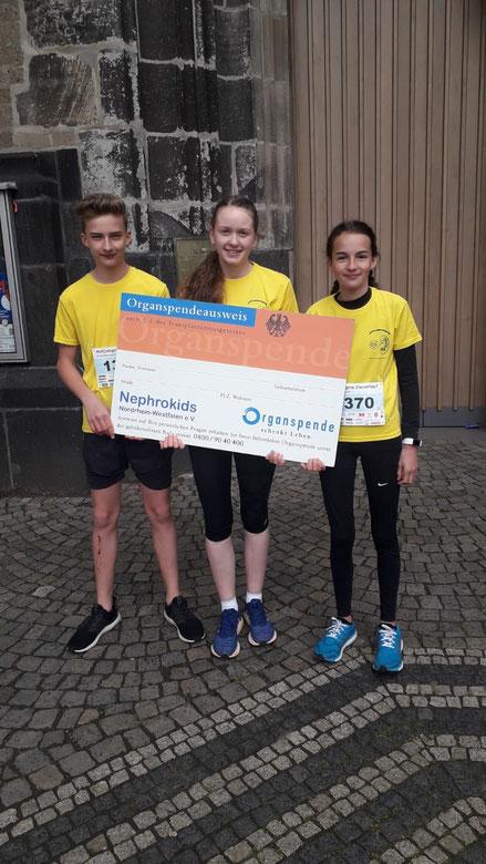 v.r.: Matteo Langenbach, Stina Hutters, Teresa Langenbach