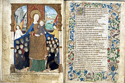 Vierge au manteau, Escritel de la confrérie Notre-Dame du Puy d'Amiens, Amiens, vers 1490-1491 ©Société des Antiquaires de Picardie