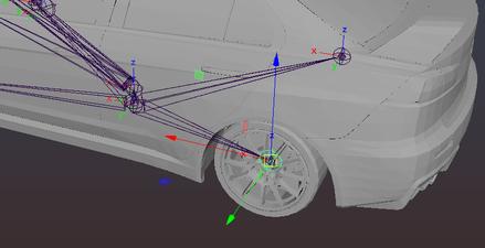 Wheel joint orientation