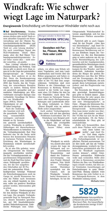 Rhein-Lahn-Zeitung v. 10.04.2015