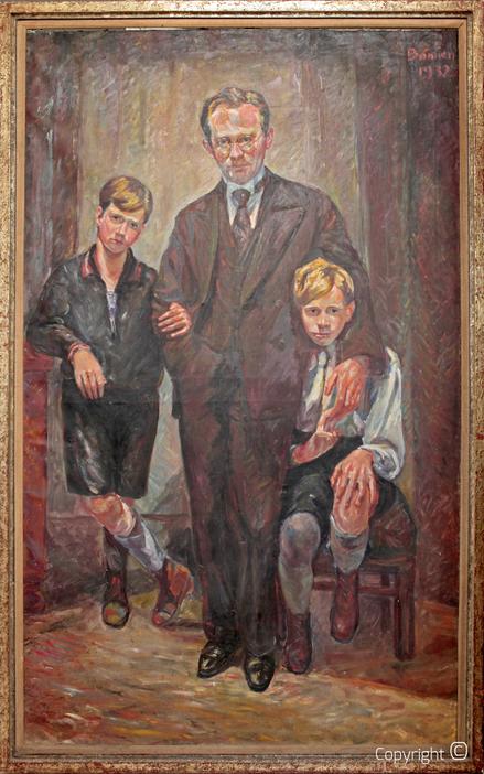 Erwin Bowien (1899-1972): Hanns Heinen mit seinen Söhnen Hans-Theo und Gunter, 1932