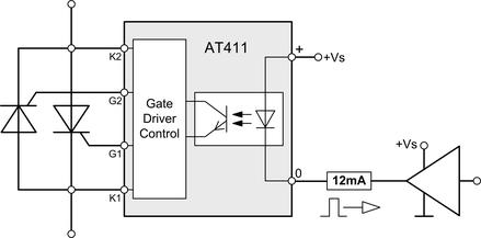 Thyristor AT411 Trigger Modul für Netzspannung 100-690Vrms wurde für Anwendungen konzipiert, bei denen mit einem Steuersignaleingang zwei Thyristoren gleichzeitig angesteuert werden
