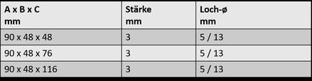 Winkelverbinder 6B.1603.503 - .509