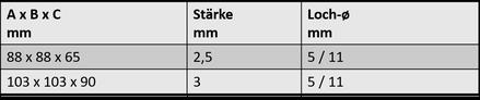 Winkelverbinder 6B.1603.006 / .009