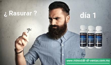 rasurar o dejar crecer minoxidil barba