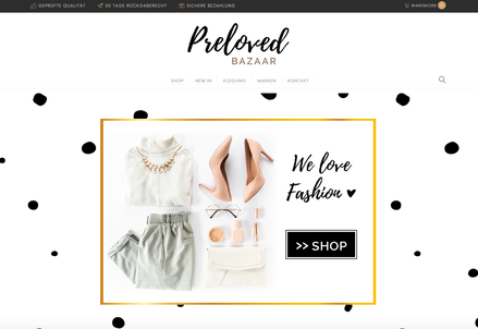 Screenshot Webseite Preloved BAZAAR