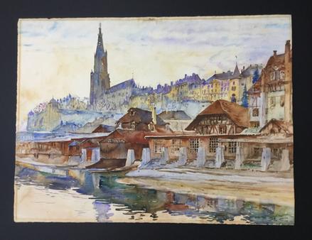 Bild einrahmen - Bern von der Matte mit Münster und Aare