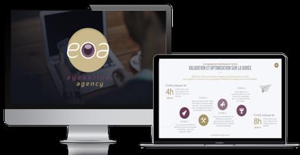 création présentation powerpoint par eyeonline agency