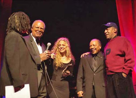 Whoppi Goldberg, Leo Corbie, Wendy Oxenhorn, Quincy Jones, Bill Cosby Great Night in Harlem, Apollo Theater 2003