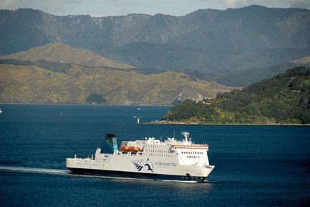 Kaitaki entering Wellington's harbour.