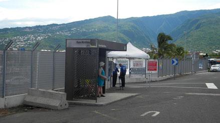 Bushaltestelle am Hafenausgang
