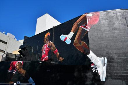 Michael Jordan, verewigt auf einer Hauswand