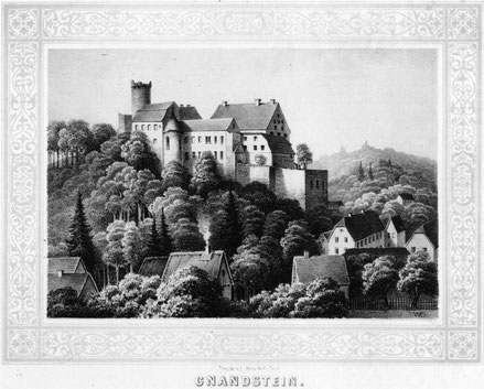 Die Burg Gnandstein wurde auch von der Postkutsche angefahren