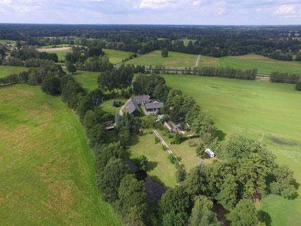 Luftbildaufnahme 2016 Ferienwohnung Spreewiesen