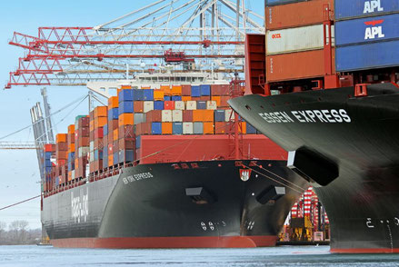 The mandated weighing of every sea freight container beginning soon, might cause backlogs at ports  -  courtesy Hapag-Lloyd