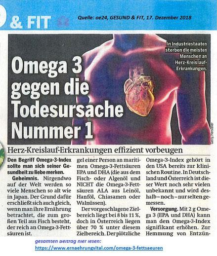 Omega-3-Fette gegen Herz-Kreislauf-Erkrankungen