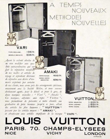 VARI AMAKI Louis Vuitton wardrobe malle armoire  ancienne
